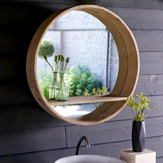 Badezimmerspiegel rund und 3 d