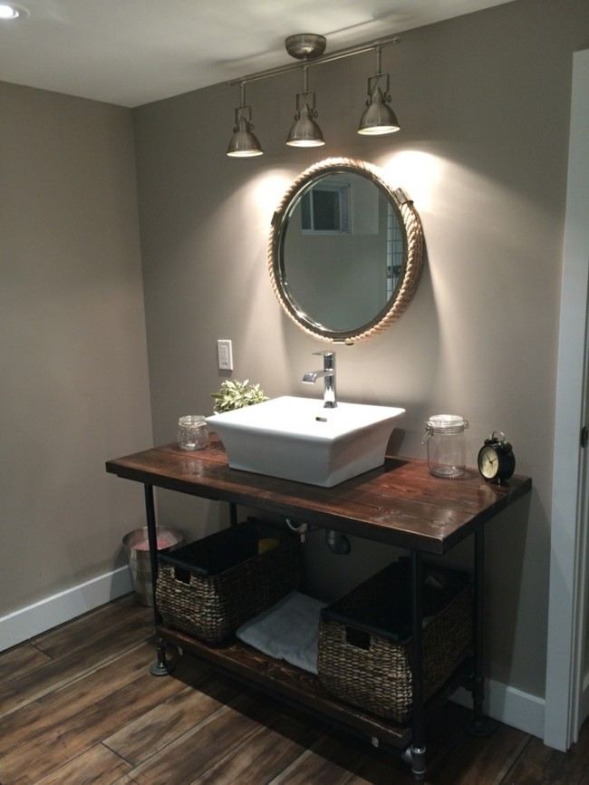Badezimmerspiegel rundes design