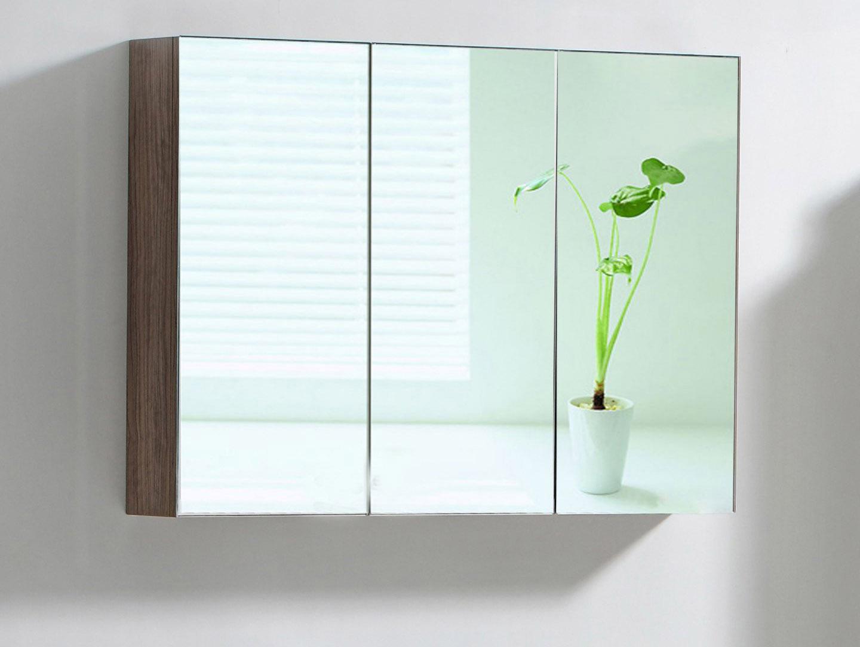 Badezimmerspiegel verzieren Blume und Schrank