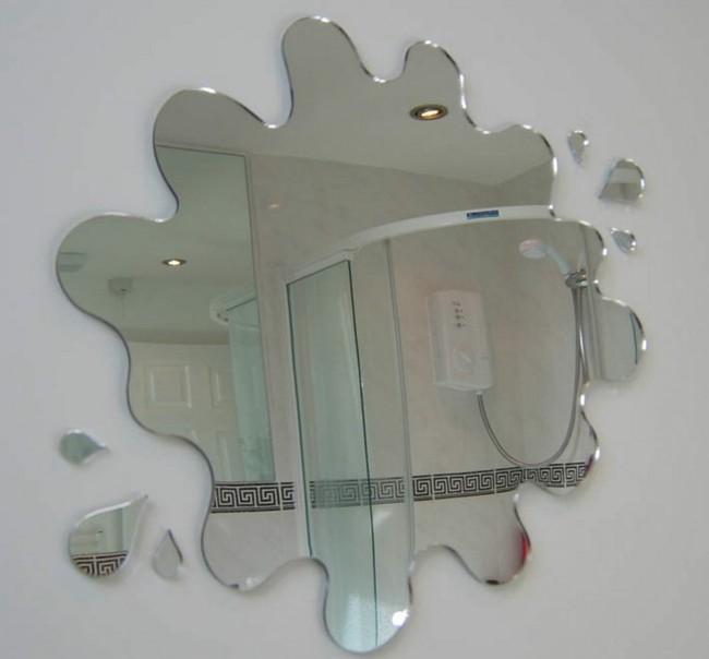Badezimmerspiegel wie wasserfleck