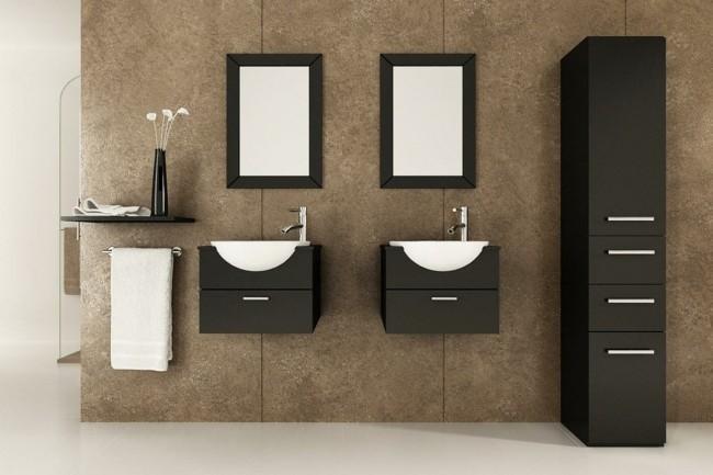 Badezimmerspiegel zwei kleine spiegel