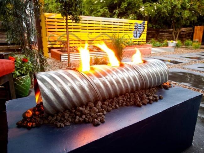 Feuerstelle Metall interessantes Design
