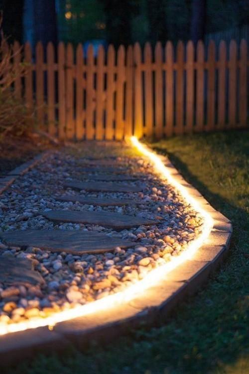 Gartenbeleuchtung Gartenwege beleuchten markieren