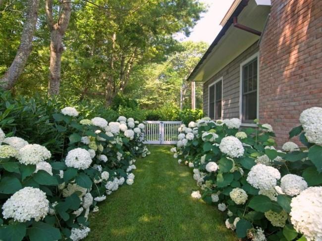 Gartentor weiß Landhausstil