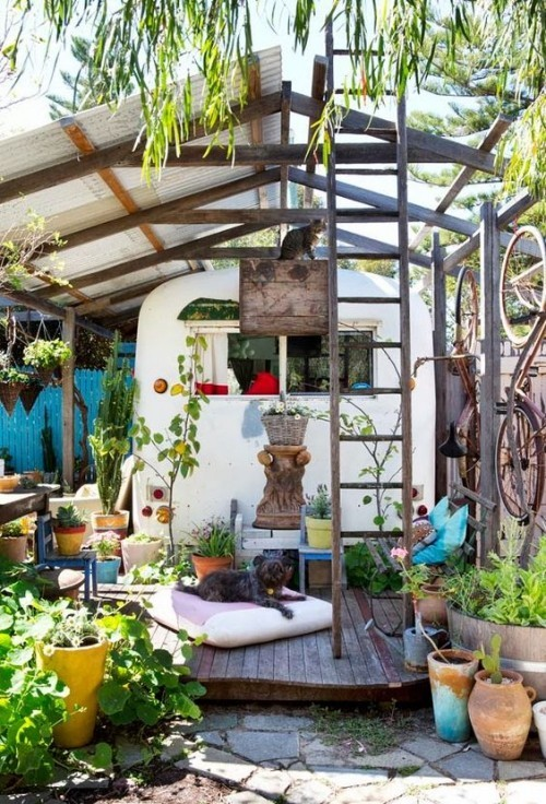 Gestaltung Ideen kleine Gärten Relax-Zine Boho Style