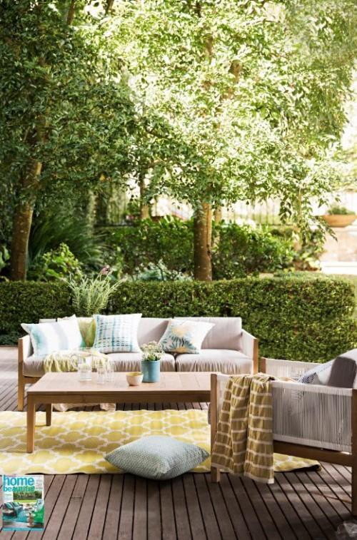 Gestaltung Ideen kleine Gärten passende Möbel