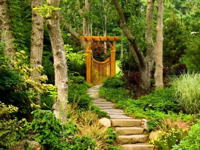 Grün Gartentor Holz