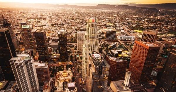 Los Angeles Sternzeichen Wassermann perfekter Urlaubsort Stadtpanorama
