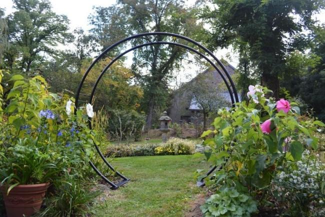 Metallbogen schöne Gartenlandschaft trennt Zonen