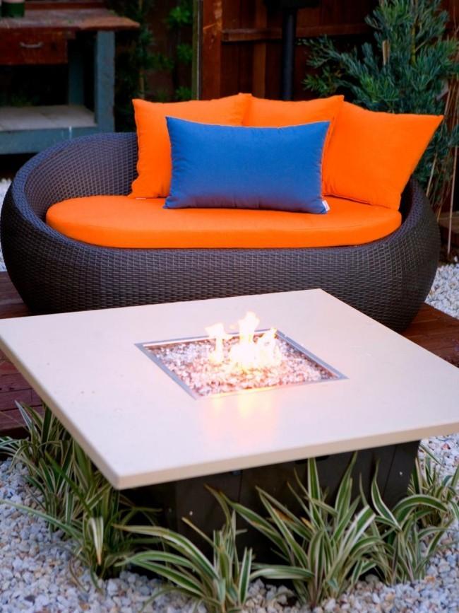 Moderne Feuerstelle Garten Outdoor