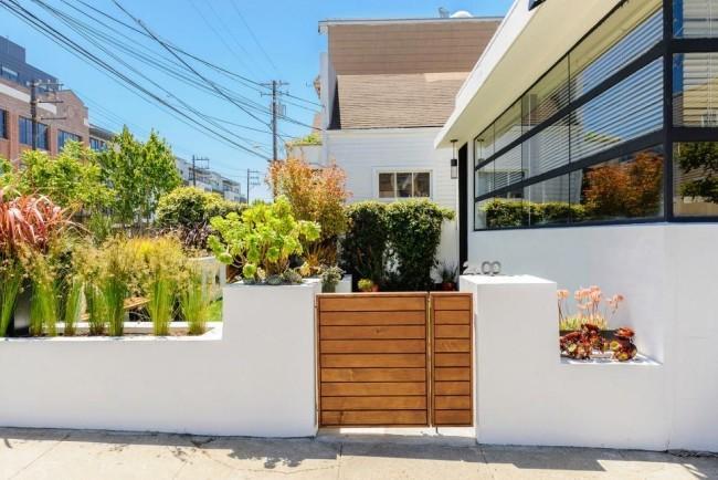 Nahtloser Eingang modernes Gartentor