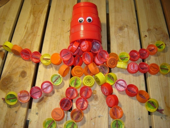 Recycling Basteln mit Plastikbechern schmetterling kracke-resized
