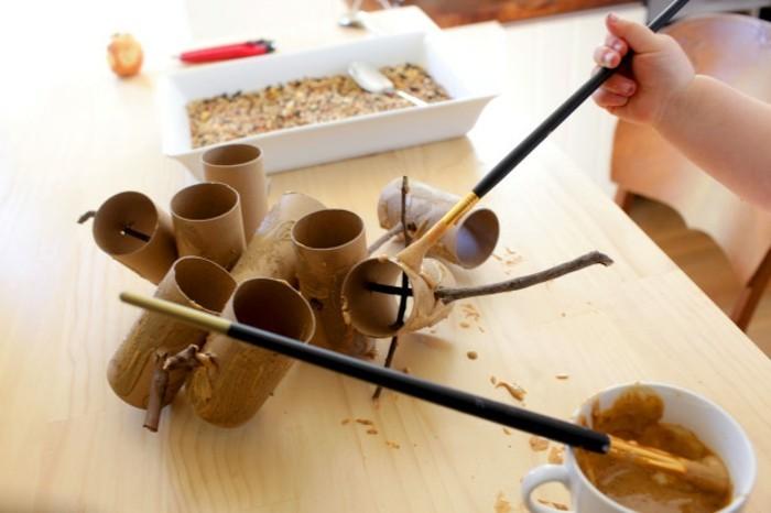 Recycling basteln Vogelfutterhaus bauen Müll reduzieren material schritt fuer schritt bauanleitung