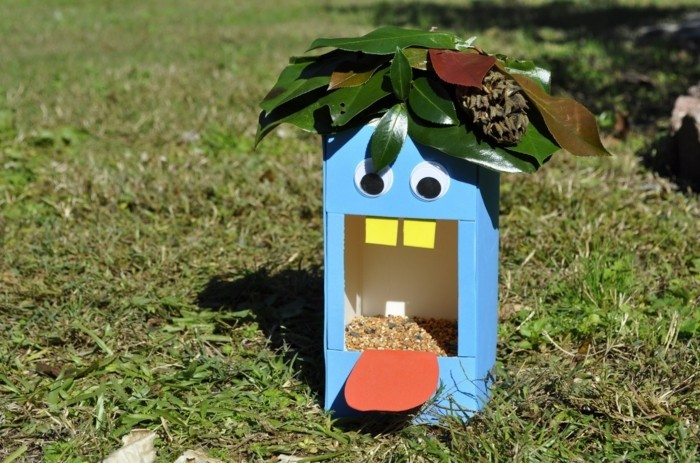 Recycling basteln Vogelfutterhaus bauen Müll reduzieren upcycling ideen