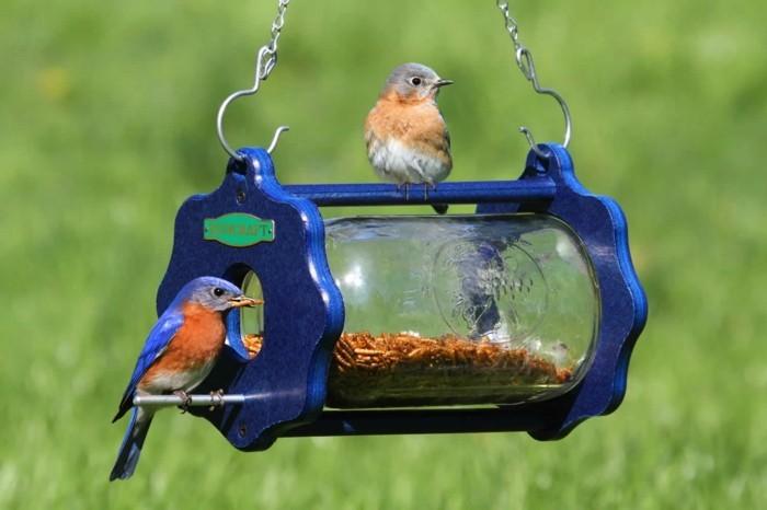 Recycling basteln Vogelfutterhaus bauen Müll reduzieren vogelhaus selber basteln