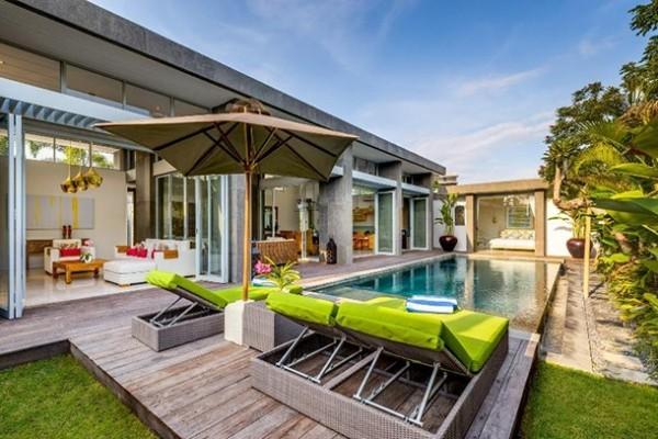 Romantischer Urlaubsort außerhalb Europas Villa Bambus Bali Indonesien