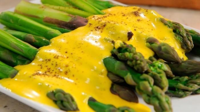 Spargel richtig kochen spargelzeit spargel gesund gebacken soße