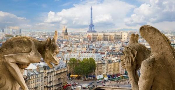 Sternzeichen Stier Paris Notre Dame Kathedrale Stadtpanorama