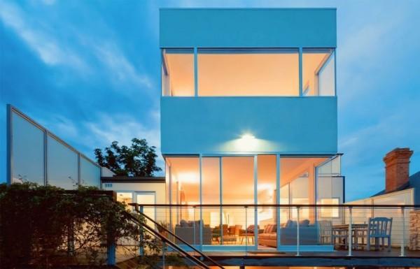 Sternzeichen Zwillinge Australien Haus viel Glas offenes Interieur