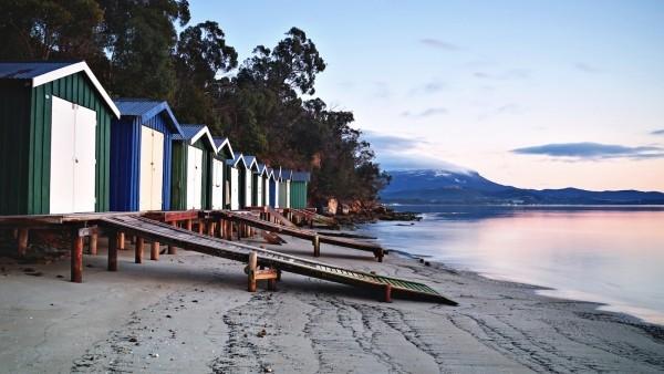 Sternzeichen perfekter Urlaub Schwimmer Surfer Tasmanien Insel Australien