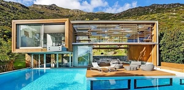 Unvergessliche Ferien Urlaubsort Kapstadt Südafrika Swimmingpool