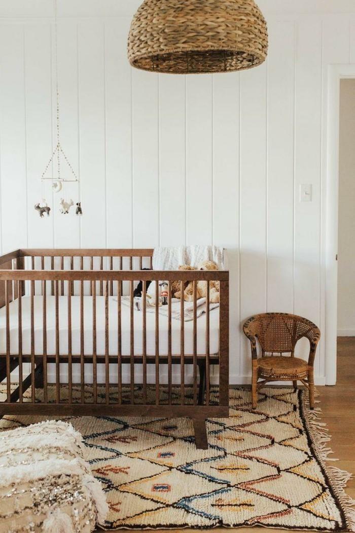 babyzimmer deko ideen brauntöne teppich gemütlich
