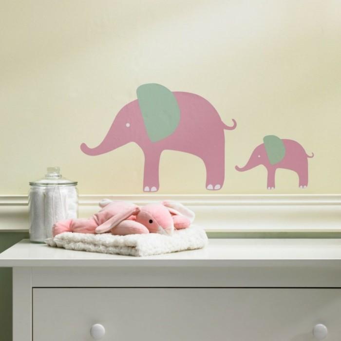 babyzimmer deko ideen elefanten wanddeko