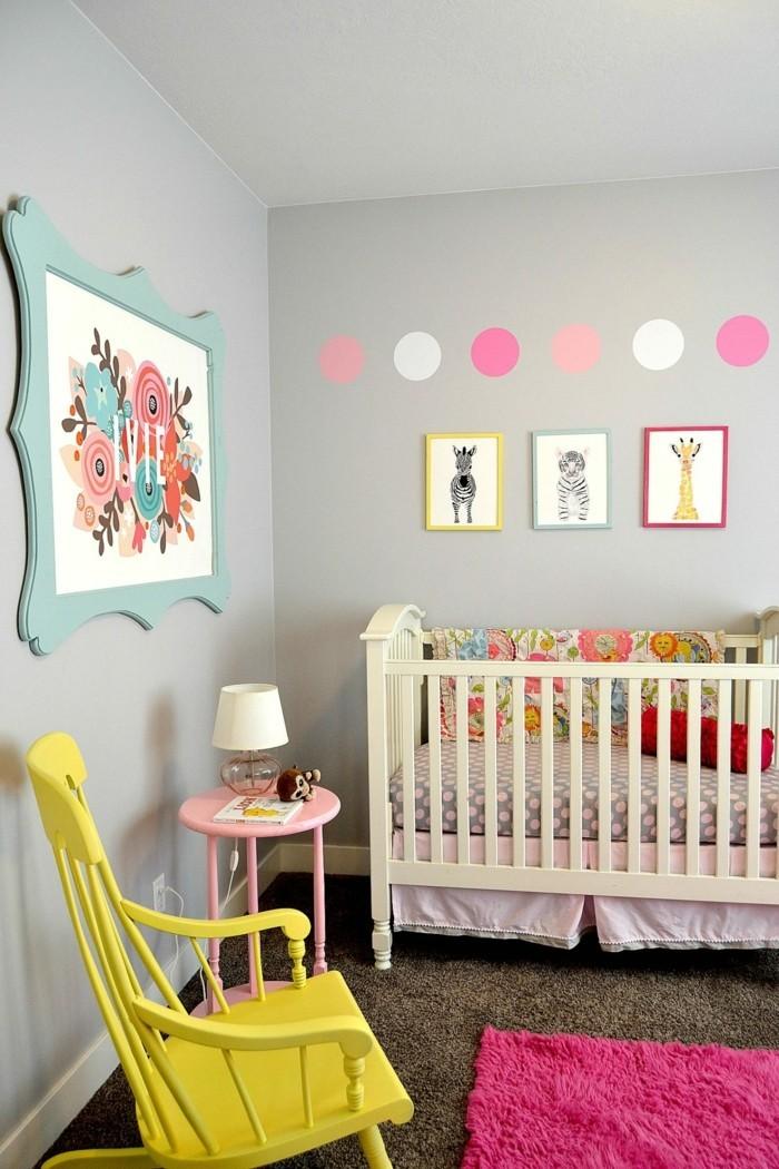 babyzimmer deko ideen farbenfroh krasse akzente