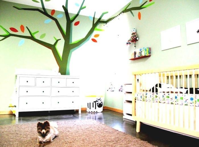 babyzimmer deko ideen frische farben geräumiger raum