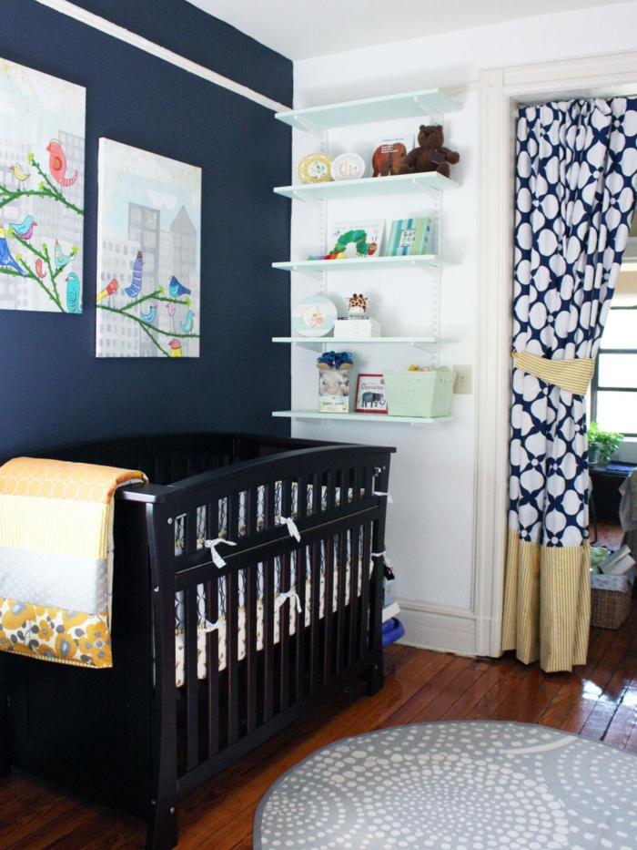 babyzimmer deko ideen frische wanddeko runder teppich