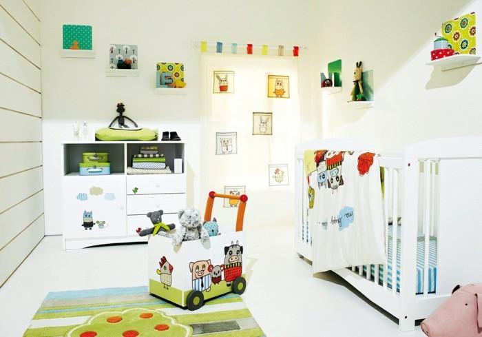 babyzimmer deko ideen weißes ambiente frische akzente