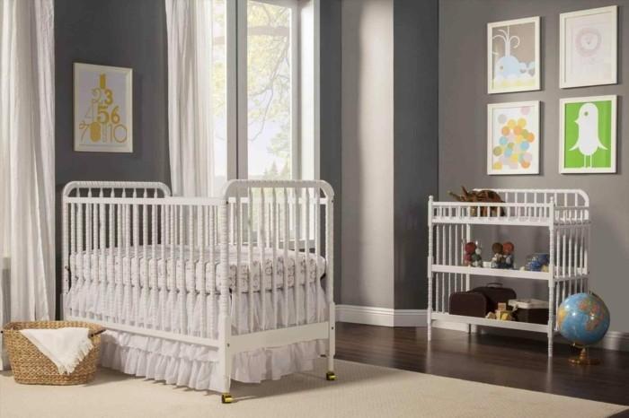 wandfarbe hellgrau babyzimmer farben graue wände weiße möbel