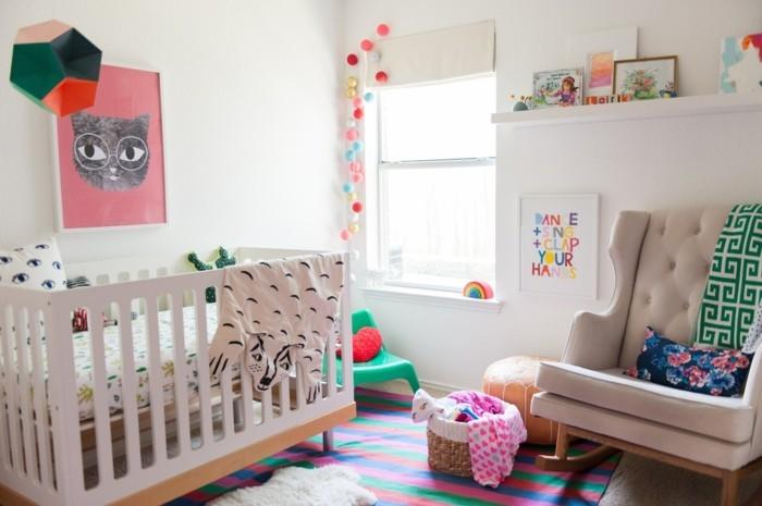 babyzimmer farben helles ambiente farbige akzente