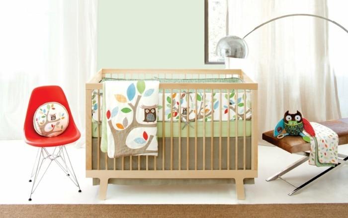 babyzimmer ideen farbige gestaltung heller bodenbelag