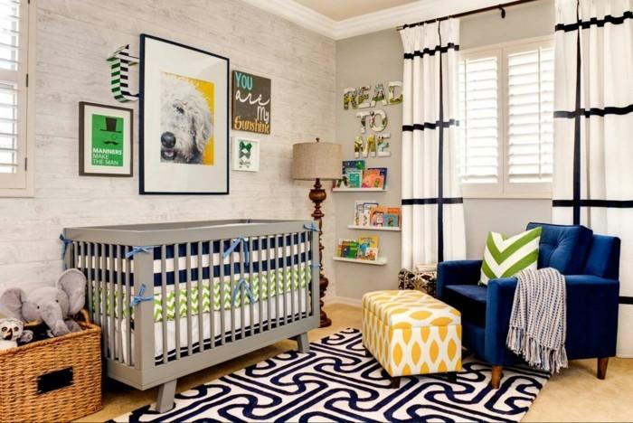 babyzimmer ideen verschiedene muster farbig