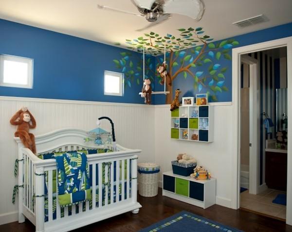 babyzimmer junge ideen dschungel motive moderne möbel