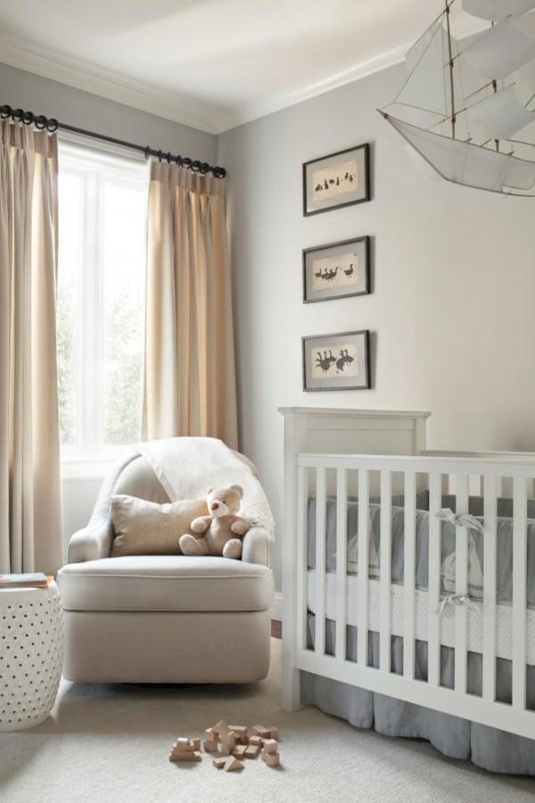 babyzimmer junge ideen weiß grau kombinieren