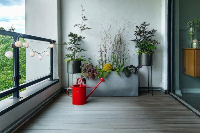 balkon ideen selber machen gartengestaltung terrassengestaltung praktische ideen rote giesskanne