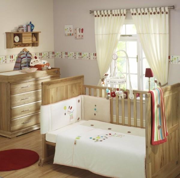 bordüre babyzimmer helle möbel frische akzente