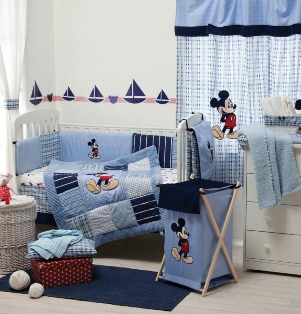bordüre babyzimmer jungen zimmer blaue textilien