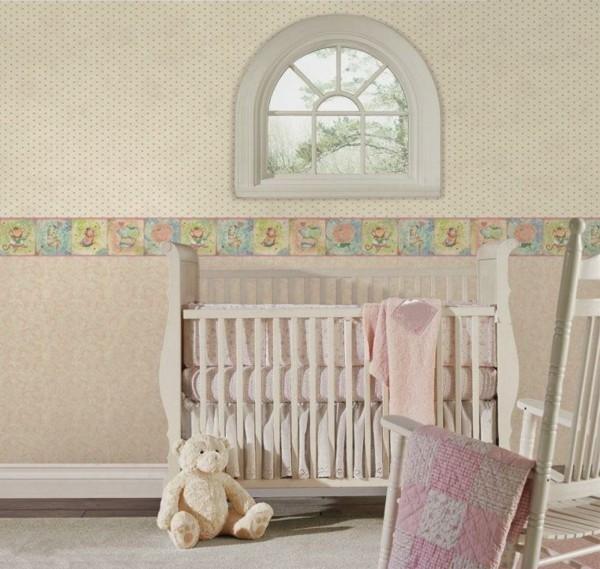 bordüre babyzimmer lebenslustig schönes wanddesign