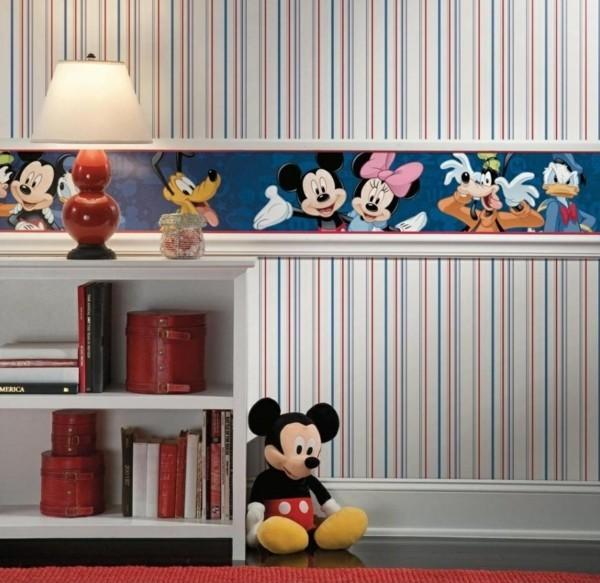 bordüre babyzimmer lieblingshelden mädchenzimmer dekorieren