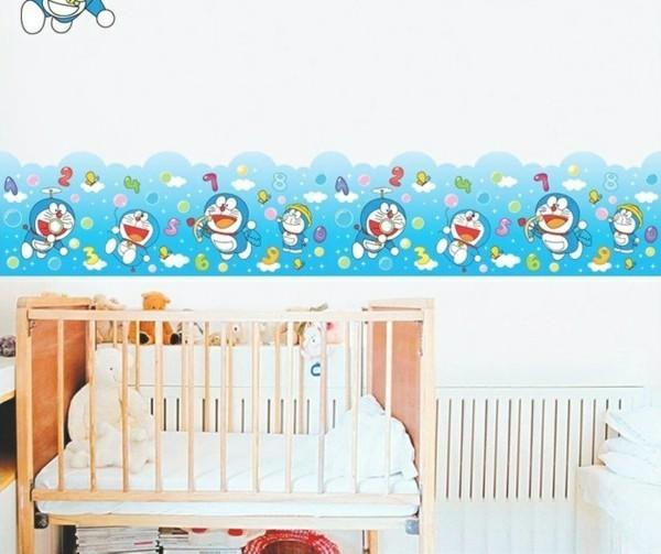 bordüre babyzimmer lustige motive helle wände aufpeppen