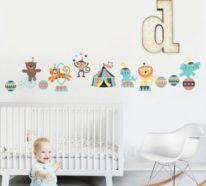 Wie Bordüre das Babyzimmer zu einem fröhlichen Ort macht