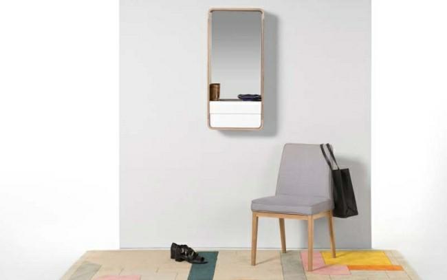 dezente rechteckige form Badezimmerspiegel