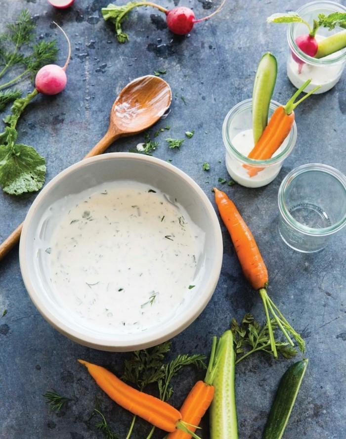 dips zum grillen einfache gesunde rezepte zubereitung joghurt