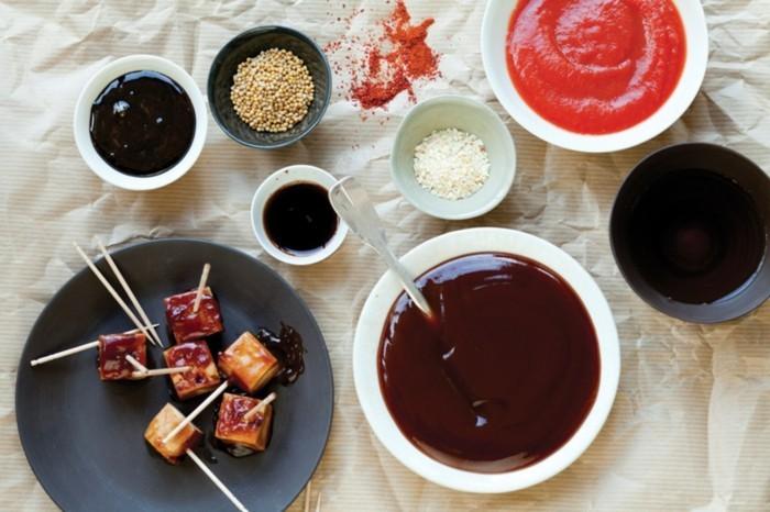 dips zum grillen einfache gesunde rezepte zubereitung tofu