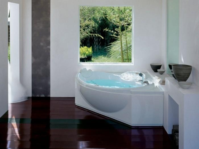 eckwanne modernes badezimmer einrichten schöner bodenbelag