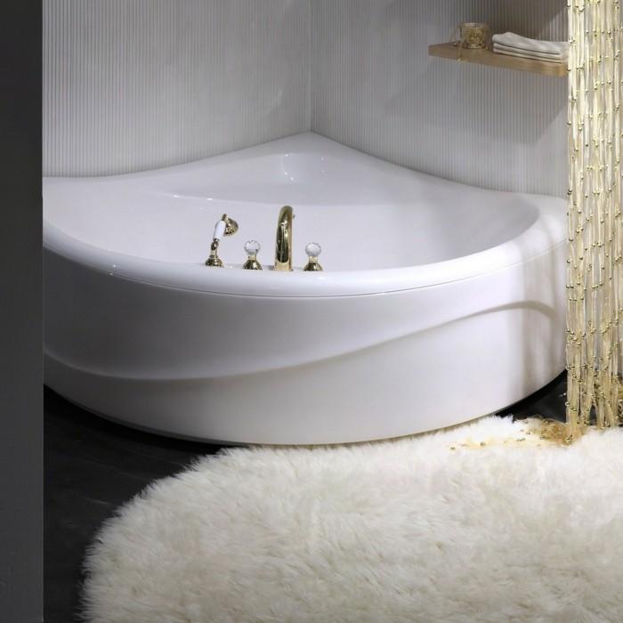 eckwanne schönes design weicher teppich attraktiver vorhang