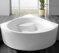 Eine Eckwanne bietet Ihnen den erwünschten Komfort und Stil im Badezimmer